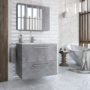 Puro Granite coloured bathroom cabinet with basin