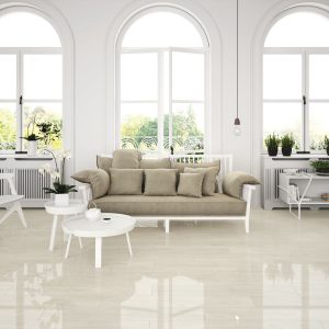 Newtron White High Gloss Porcelain Floor Tile 20 x 114 cm